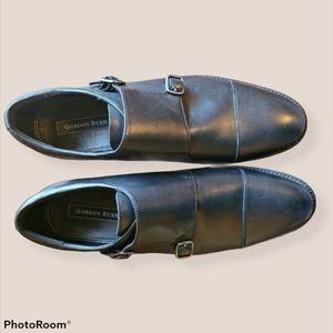 Gordon Rush NWT Black Leather Oxford Buckles